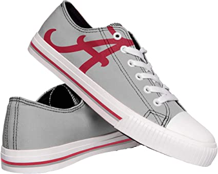 S FOCO Clemson Tigers NCAA Womens Stripe Canvas Shoes