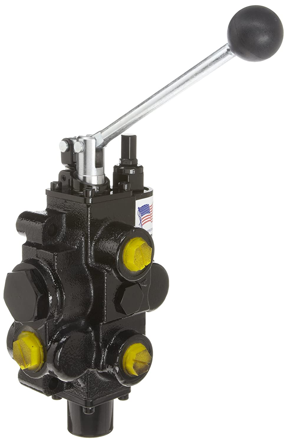 Lever Handle 4 Ways In//Out: #12 SAE Tandem 3000 psi Work #10 SAE 3 Positions Spring Center 1 Spool Prince RD516CA5A4B1 Directional Control Valve 30 gpm Monoblock Cast Iron