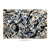 Amazon Price History for:Silver On Black Poster by Jackson Pollock 36 x 24in