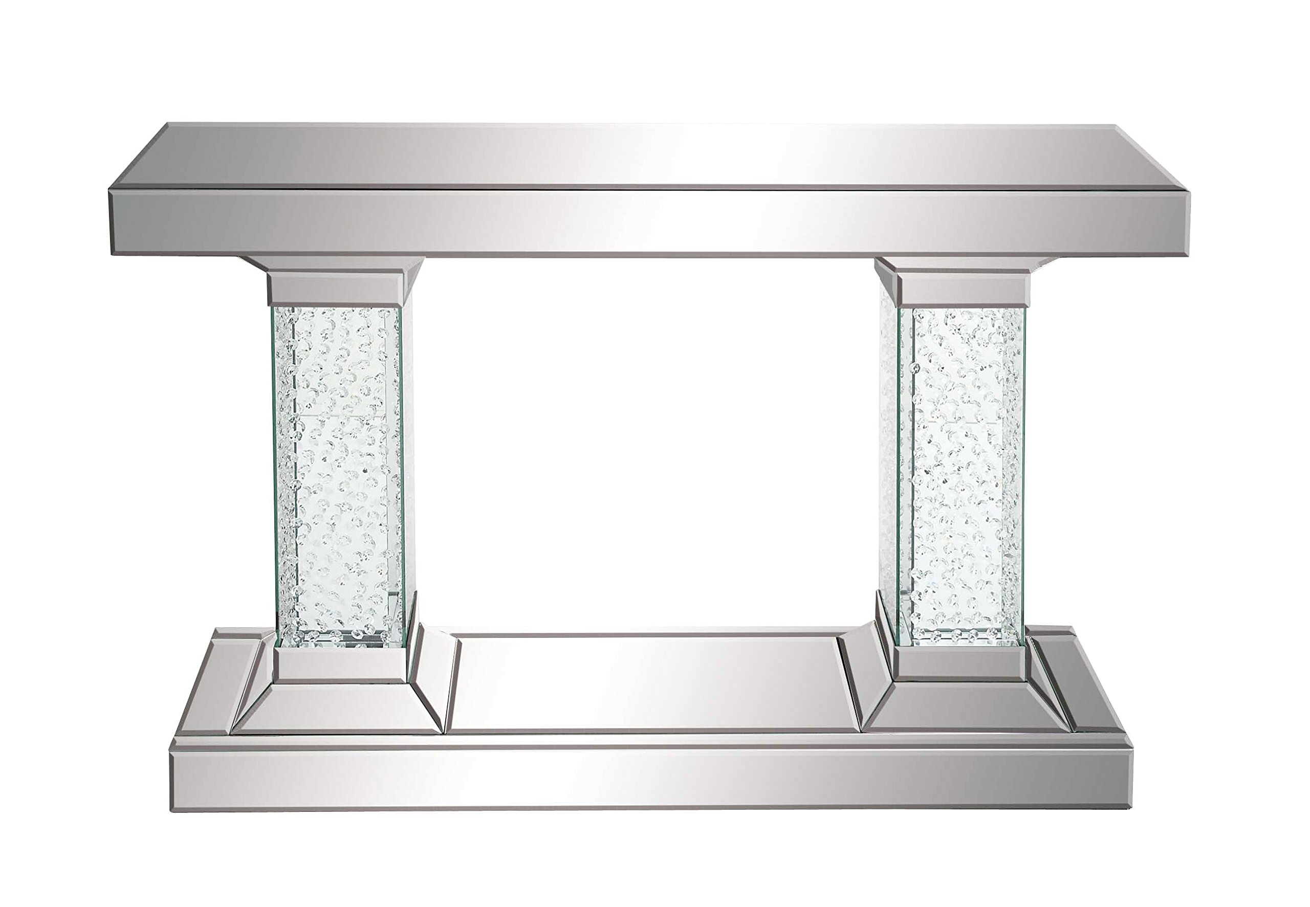Deco 79 87217 Wood Mirror Console Table, 42'' by 31''