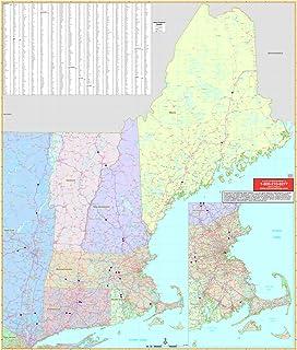 new england wall map railed u s u s sectional wall maps