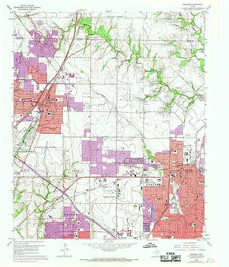Garland Texas Map >> Amazon Com Yellowmaps Garland Tx Topo Map 1 24000 Scale