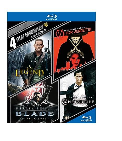 4 Film Favorites: Sci-Fi Action - Blade / V For Vendetta / I Am Legend / Constantine (Blu-ray) $4.32 online deal