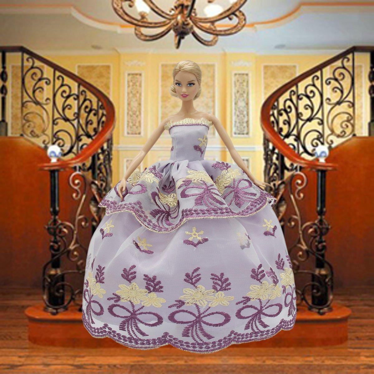 ZITA ELEMENT 6 Pezzi Moda Matrimonio Abiti Vestiti da Sera Festa Vestito per Barbie Bambole by Selezionati A Caso