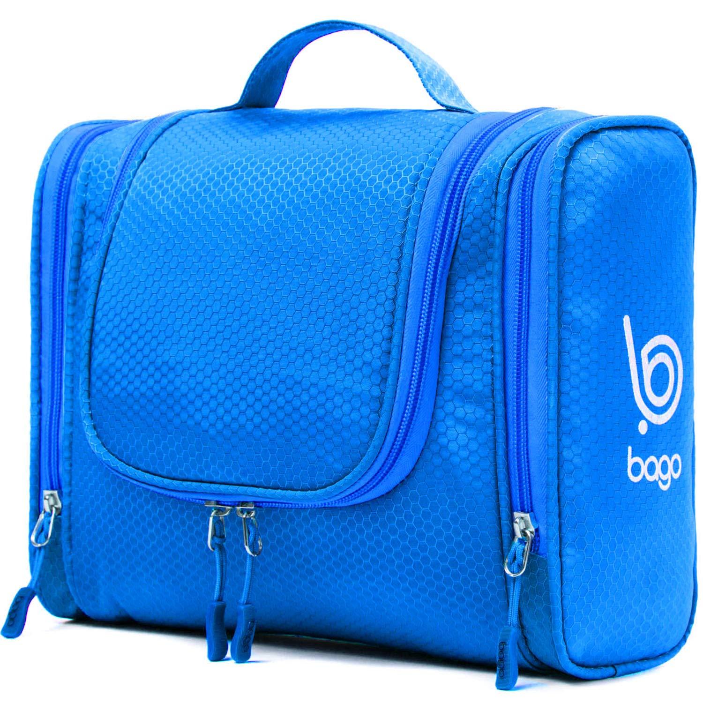 e0f3832a2c08 Bago Hanging Toiletry Bag For Men   Women - Toiletries Travel Organizer  (Blue)