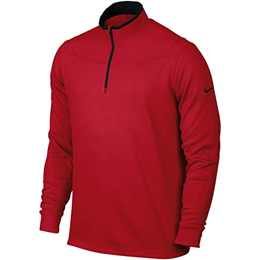 e0e0be6f Amazon.com : Nike Golf 2016 Dri-Fit Longsleeve Half Zip Cover up Mens Golf  Pullover University Red Small : Clothing