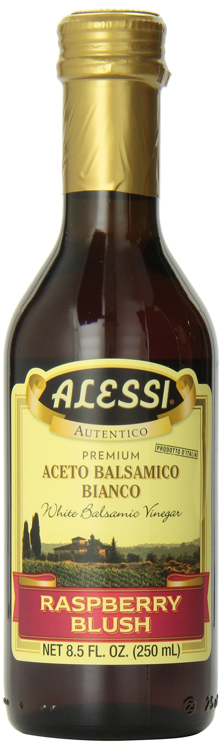 Alessi, White Balsamic Raspberry Vinegar, 8.50-Ounce (Pack of 6)