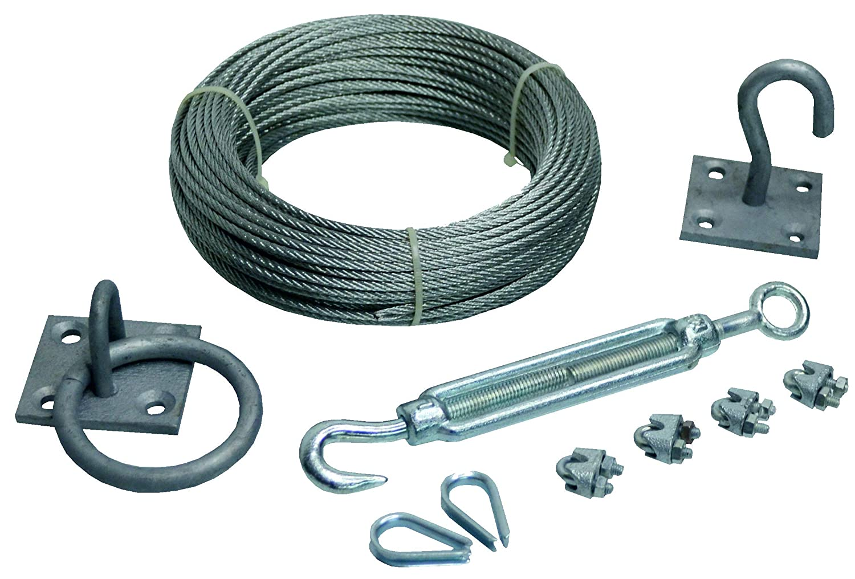 Wire Eye Loop Zinc Plated HandyStraps 2mm-3mm Steel Wire Rope Clamp Rope Grip