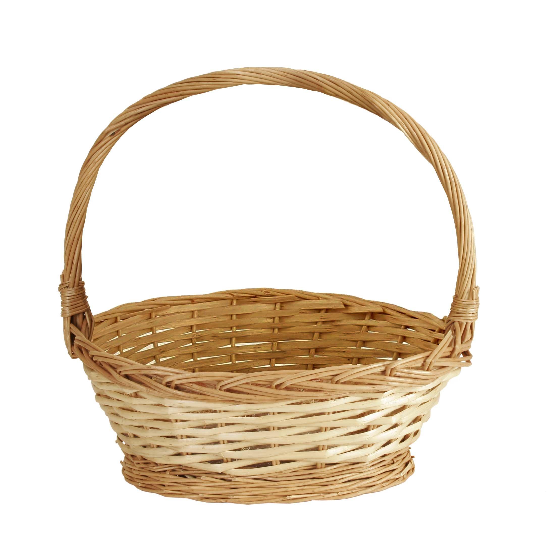 Wald Imports Natural Willow 14'' Decorative Storage Basket