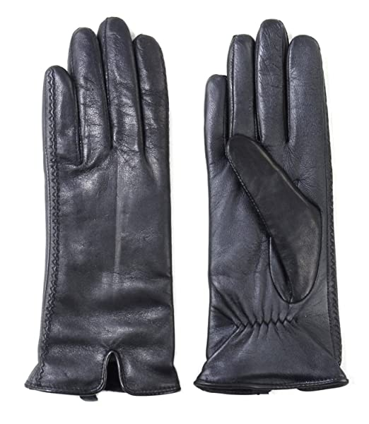 45e24d1b03ebe Amazon.com: Fownes Brothers Women's Leather Gloves (Black, Medium): Clothing