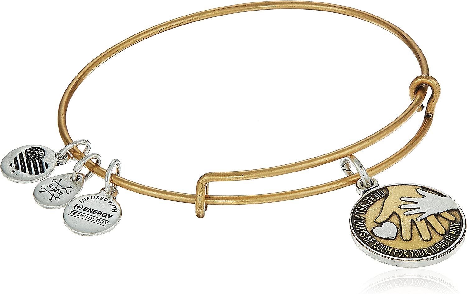 Alex and Ani Hand in Hand II Two-Tone Bangle