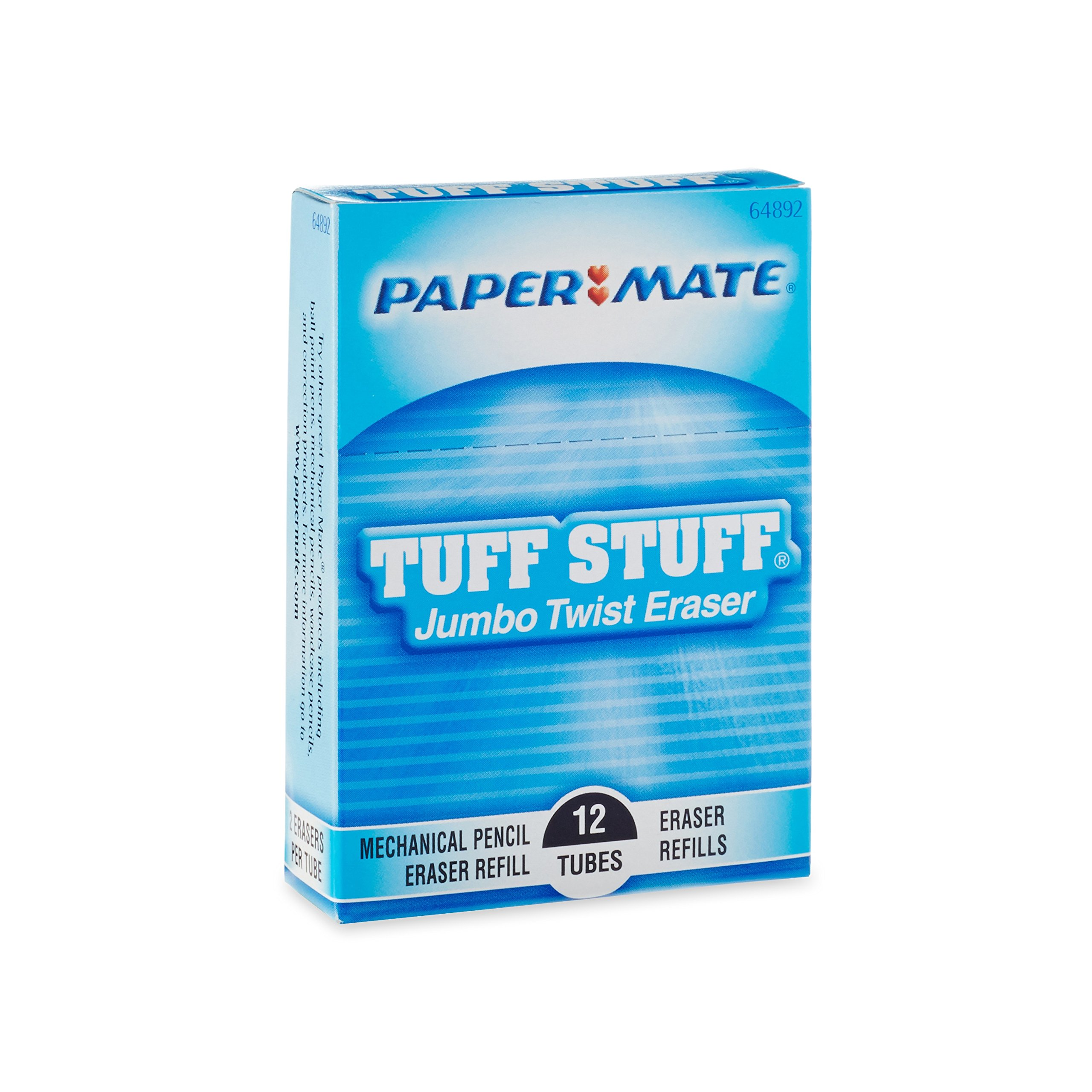 Paper Mate Jumbo Twist Eraser, Pack of 12 (64881) by PAPER MATE