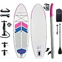 Aqua Plus 10ftx32inx6in Inflatable SUP for All Skill Levels with Stand Up Paddle Board, Adjustable Paddle, Double Action Pump,Journey ISUP Travel Backpack, Leash, TPU Waterproof Bag, Shoulder Strap