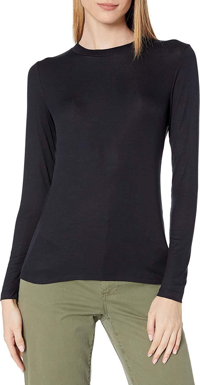Amazon Brand - Daily Ritual Women's Fluid Knit Long-Sleeve Crewneck Shirt