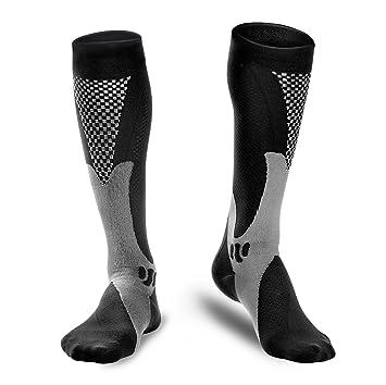 Odoland Calcetines deportivos de compresión calcetines auténticos para recuperación y rendimiento-correr, atletas,