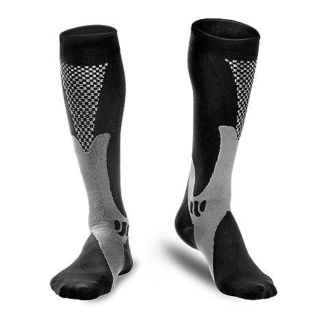 Odoland Calcetines deportivos de compresión calcetines auténticos para recuperación y rendimiento, calcetines de compresión para