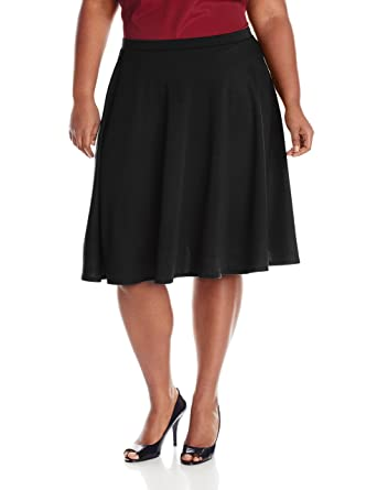 364ef9a20f Star Vixen Women's Plus-Size Knee Length Full Skater Skirt at Amazon ...