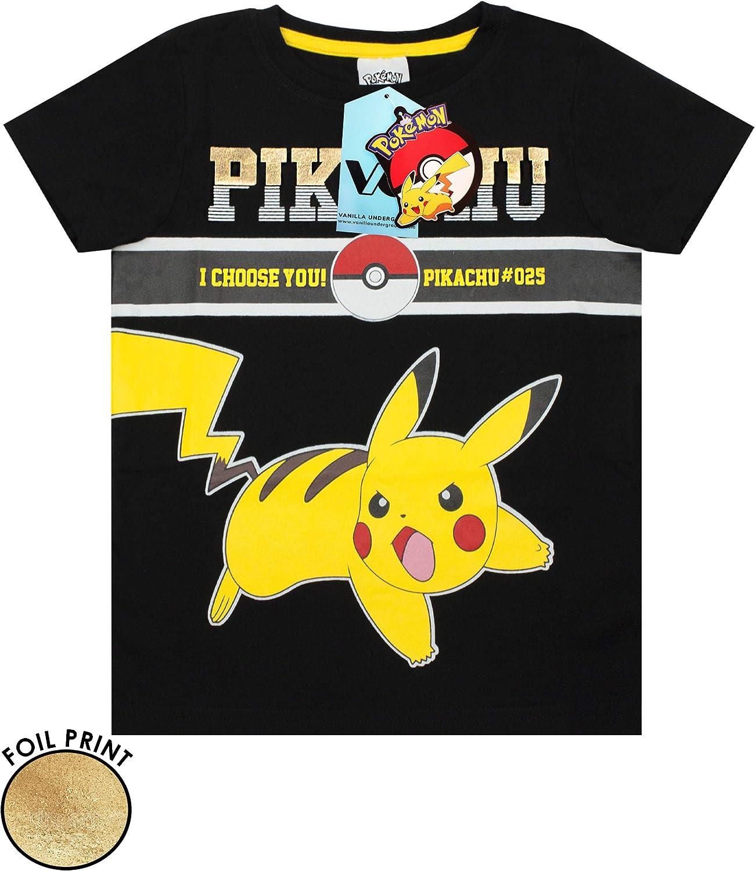 Vanilla Underground Pokemon Pikachu Elektrischer Pokeball #025 Jungen Schlafanzug kurz