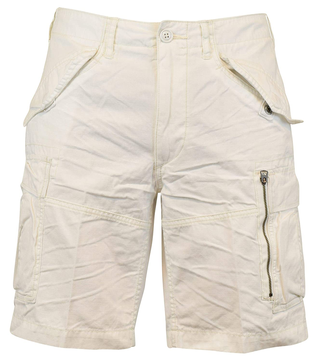 bde41d650 Polo Ralph Lauren Men s Classic-Fit Ripstop Cotton Cargo Shorts - 42 - White