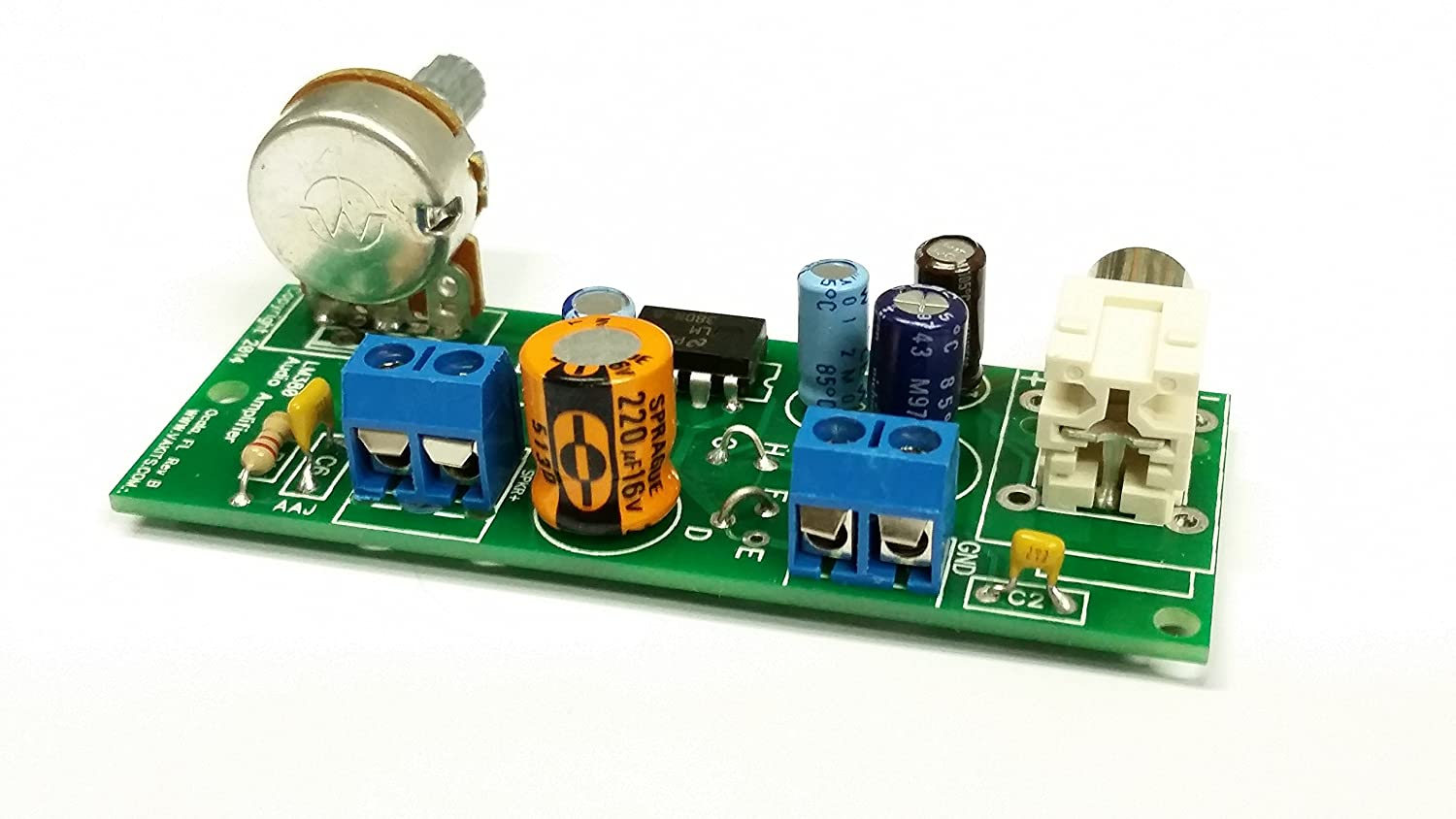 Lm380n 8 Audio Amplifier Kit Rca In 2 Pin Out Car Lm380 Power Circuit Electronics