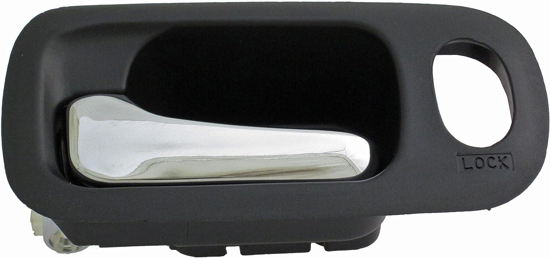 Black and Chrome Dorman 92684 Front Driver Side Interior Door Handle for Select Honda Models
