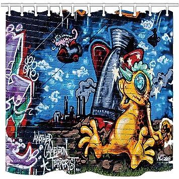 nyngei Modern Dusche Vorhänge, Wand Graffiti Art Science ...