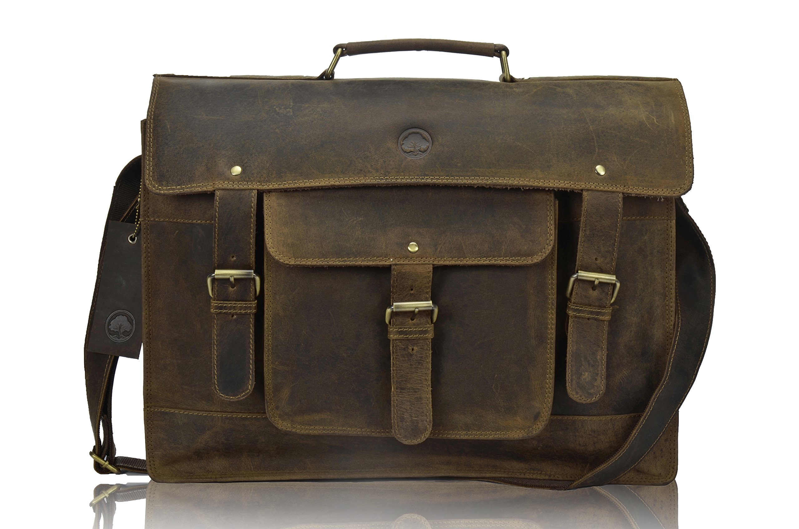 TONY'S BAGS - 18 inch Laptop bag - College Bag, Office Bag Laptop Bag Briefcase in Vintage Leather