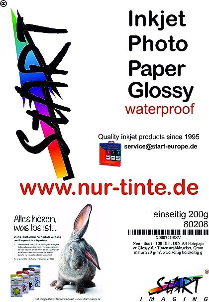 Comience 100 hojas DIN A4 Papel fotográfico satinado para ...