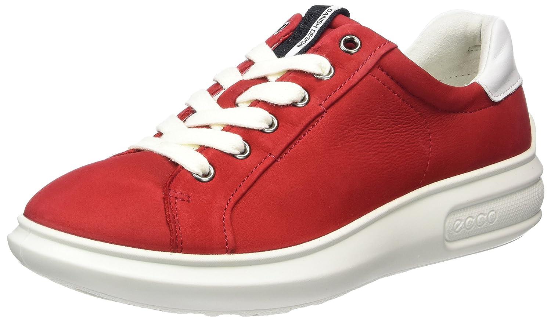 Ecco 221523, Zapatillas Mujer 38 EU Rojo (56545 Chili Red/White)