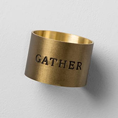 Hearth & Hand with Magnolia Gather Napkin Ring Brass Joanna Gaines Collection
