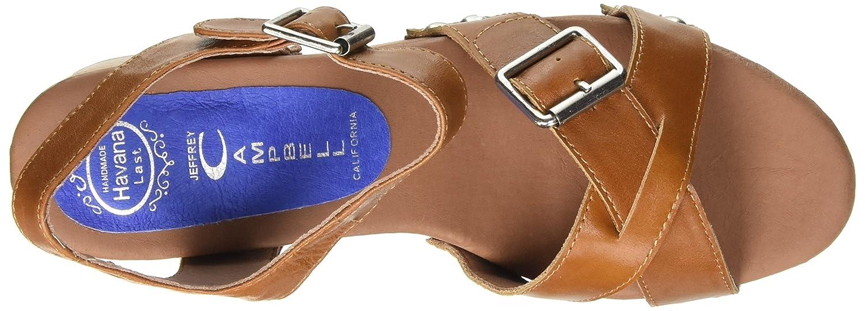 Jeffrey Campbell Peasy Leather, Scarpe a con Tacco a Scarpe Punta Aperta Donna c4ccd7