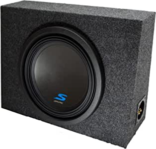"Universal Regular Standard Cab Truck Alpine S-W12D4 Type S Car Audio Subwoofer Custom Single 12"" Sub Box Enclosure Package New"