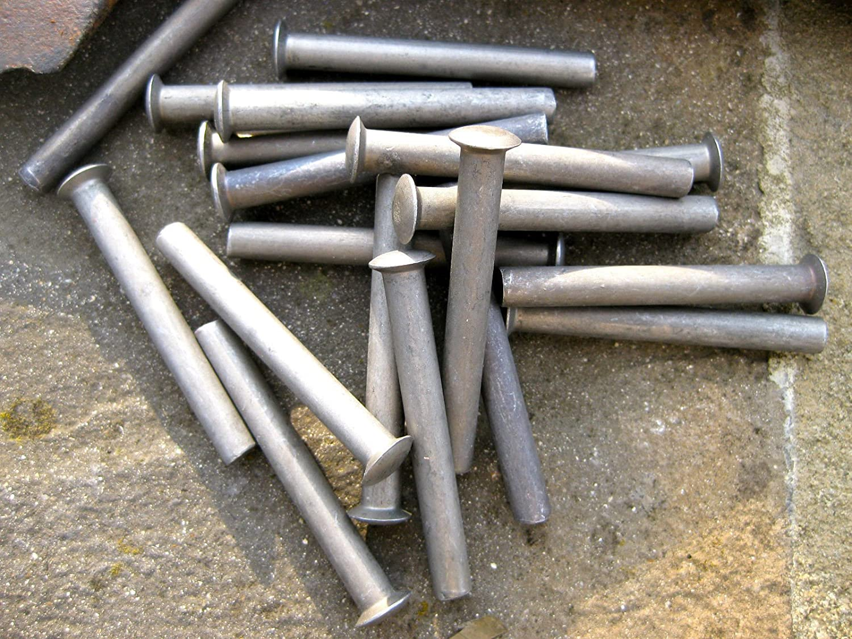 10 x Rivets for shovel spade fork handle repair 50x6mm rake hoe garden lawnmower R S Trade