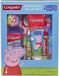 Colgate Kids Toothbrush, Toothpaste, Mouthwash Gift Set, Peppa Pig