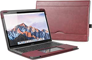 "TYTX MacBook Air Leather Case 13.3 Inch 2010-2017 (A1466 A1369) Laptop Sleeve Protective Folio Book Cover (Old MacBook air 13.3"", Wine Red)"