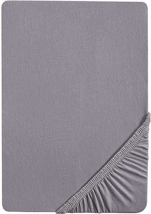 Castell Jersey-Stretch-Spannbetttuch Spannbetttuch Bettlaken Weiß 140-160x200cm
