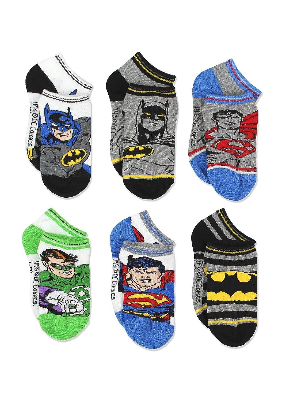 Justice League Superhero Boys 6 pack Socks Toddler