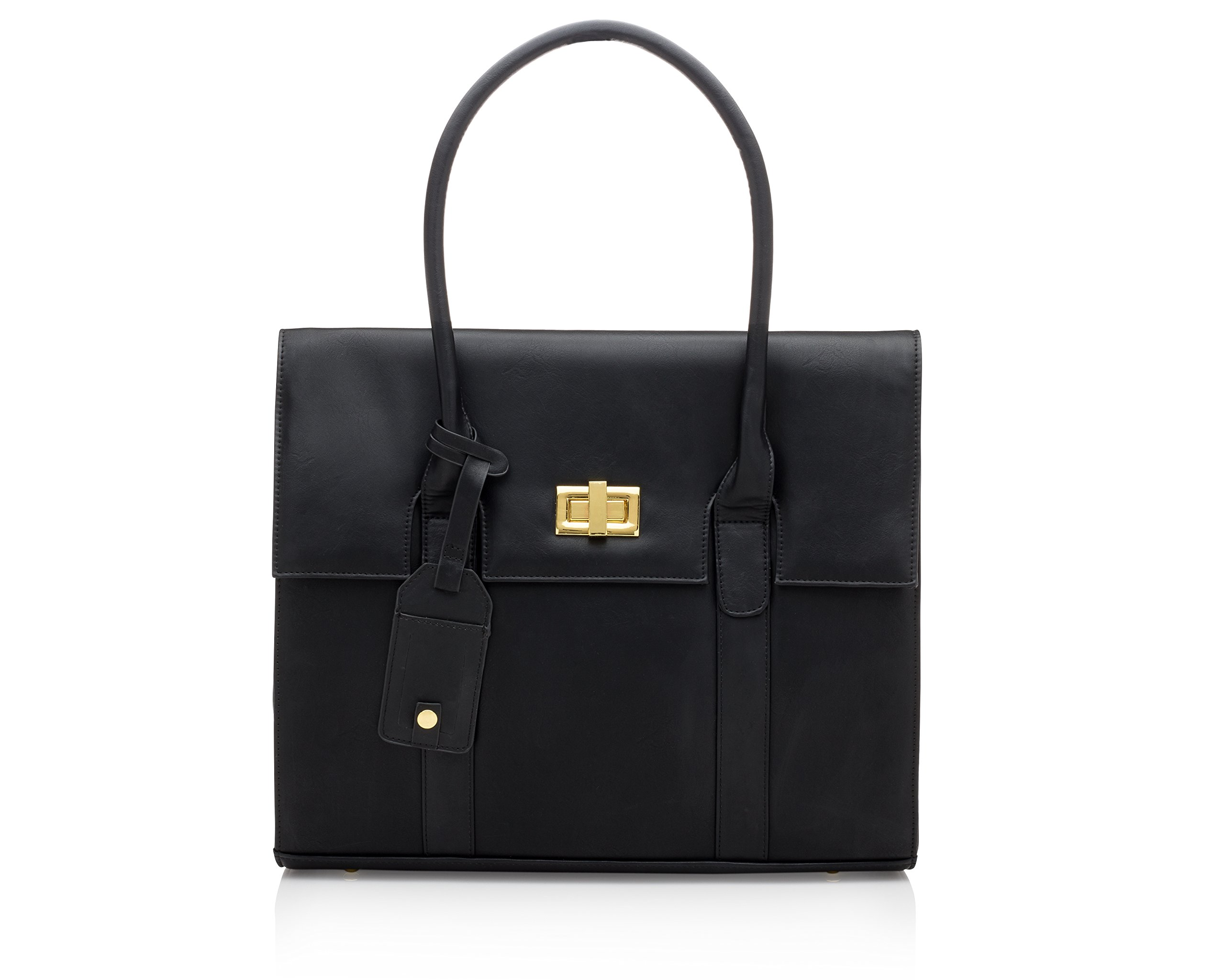 Graceship-Laptop-Bag-for-Women-London-15-inch-Black-Computer-BagBriefcase-for-WomenWork-Tote-Bag-for-Women