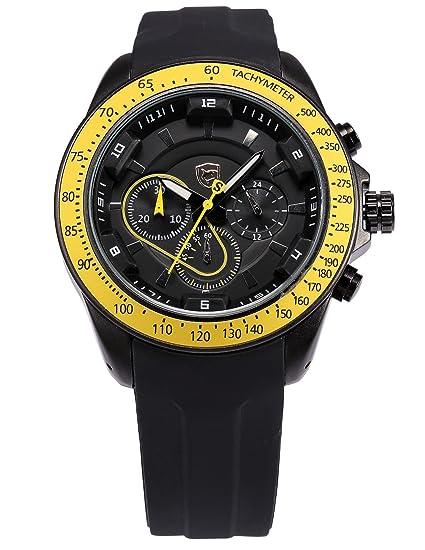 Shark SH281 - Reloj para hombres, correa de silicona color negro: Amazon.es: Relojes