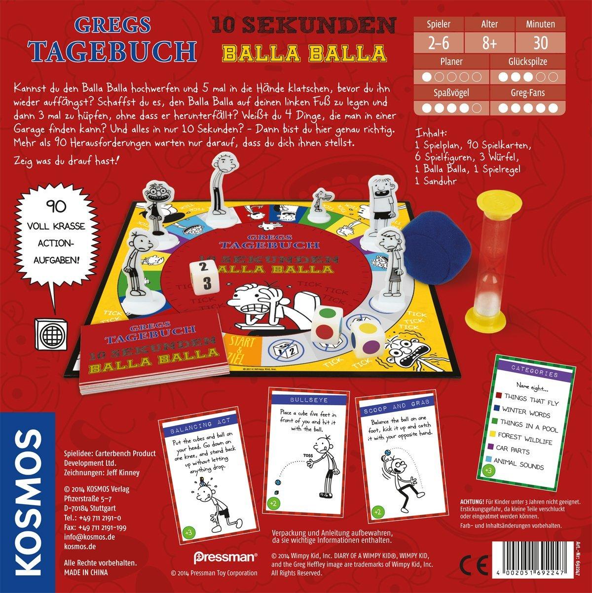 KOSMOS 692247 - Gregs Tagebuch - 10 Seconds Balla Balla Game of ...