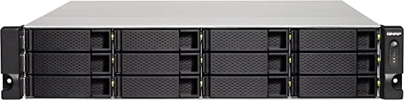 QNAP TS-1232XU-RP Ethernet Rack (2U) Black NAS - Unidad Raid (HDD,SSD, Serial ATA III, 2.5/3.5