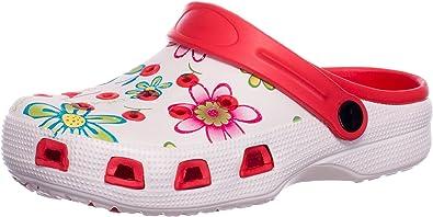 BRANDSSELLER Zuecos de Mujer | Zapato de jardín | Zapatillas | Zapatos de baño | Zapatillas Sandalias | Patrón Floral: Amazon.es: Zapatos y complementos