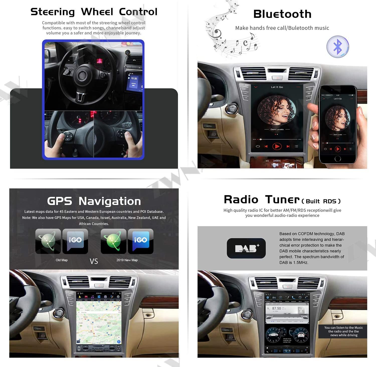 Android 10.0 Car Stereo Head Unit for Lexus is 2005-2012 GPS ...