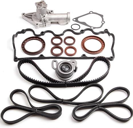 Head Gasket Set Timing Belt Kit Fit 00-02 Hyundai Accent 1.5 SOHC 12V G4EK