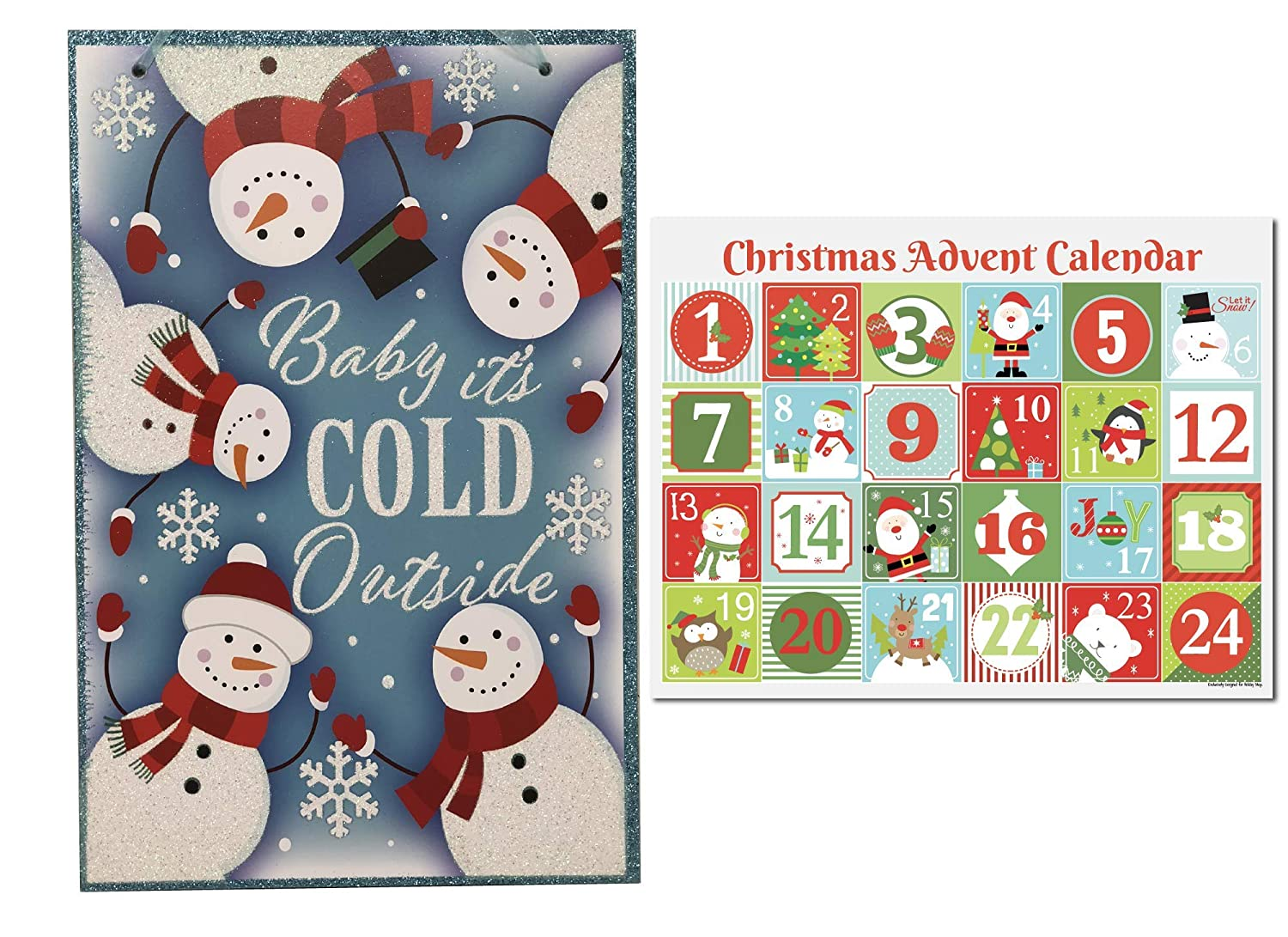 Amazon.com: Ropeastar Christmas Decorative Signs (Baby Its Cold Outside): Home & Kitchen