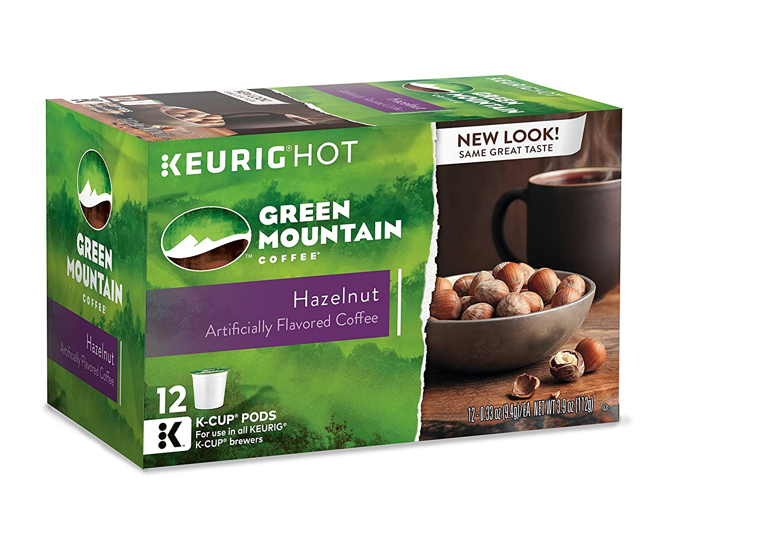 green mountain coffee hazelnut keurig singleserve kcup pods light roast coffee 72 count 6 boxes of 12 pods amazoncom grocery u0026 gourmet food - K Cups Bulk