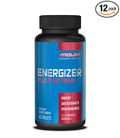 ProLab Energizer Multiple Supplement, 60 Count (Pack of 12)