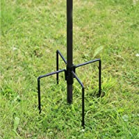 Denny International Wild Bird Feeding Station Stabiliser For Garden Outdoor Feeding Feeder Feet Ground Spikes Stand in Black Color