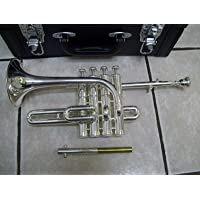 SHREYAS SCX76 India Silver Nickel Piccolo Trumpet With Free Case+Mouthpiece