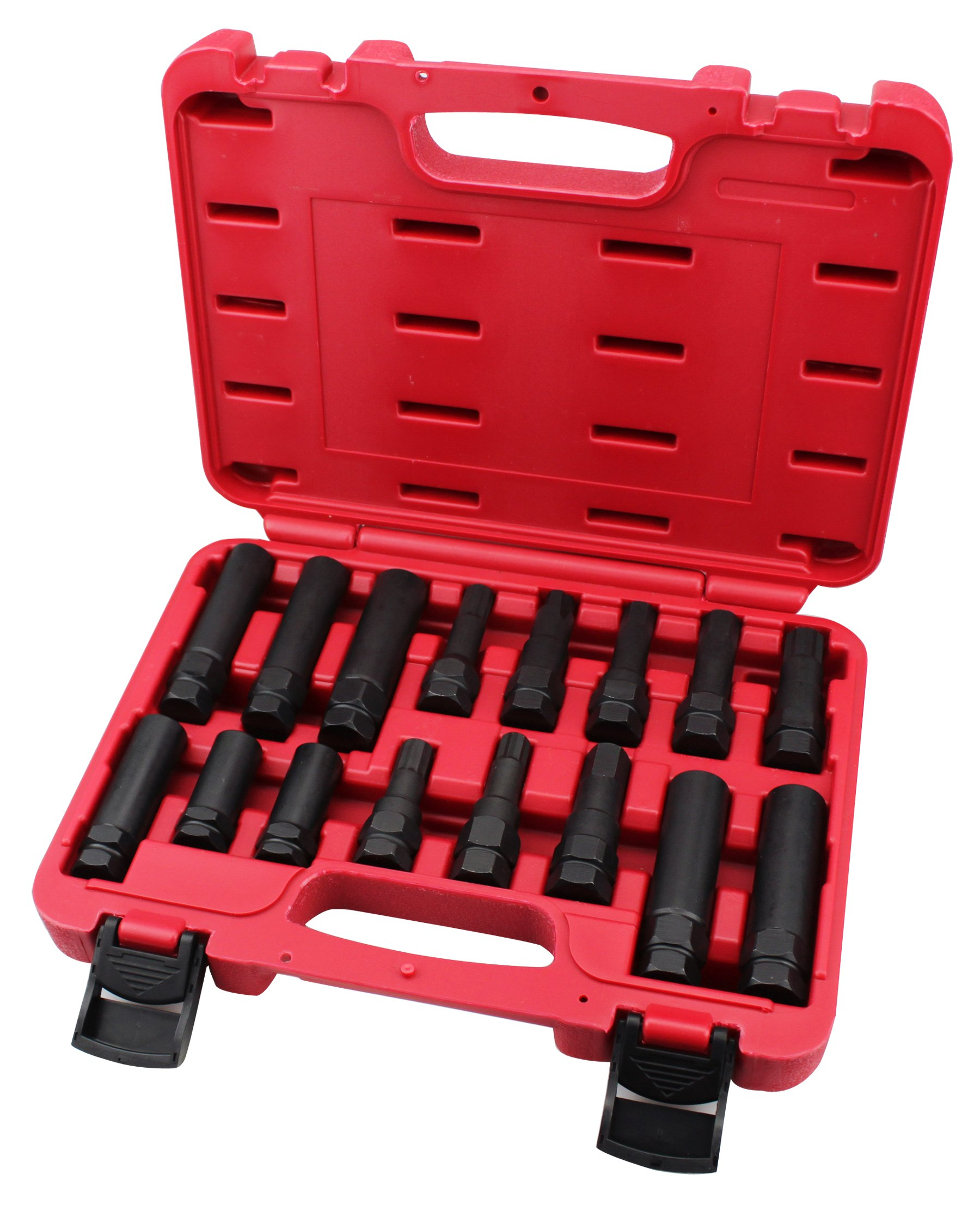 kauplus 16PCS Wheel Locking Lug Master Key Set- Wheel Lock Lug Nut Master Key Set by kauplus (Image #1)